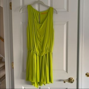 WORN ONCE*Lime green Alice+Olivia silk-blend dress
